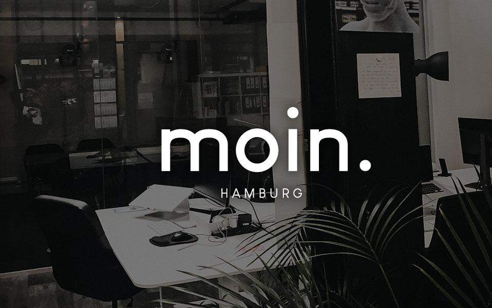 WERBEAGENTUR HAMBURG – Bürografik mit Moin Schriftzug